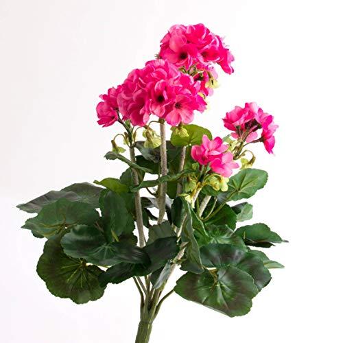 artplants.de Set 2 x Decorativo Geranio MIEKE en Vara, Rosa, 30cm, Ø 25cm - 2 Unidades de Planta Artificial - Flor sintética