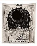 Rcbmn Tarotkarte Tapisserie Tarot-Wandteppich Der Mond