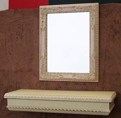 ARREDO SELLI Juego de estante y espejo blanco provenzal