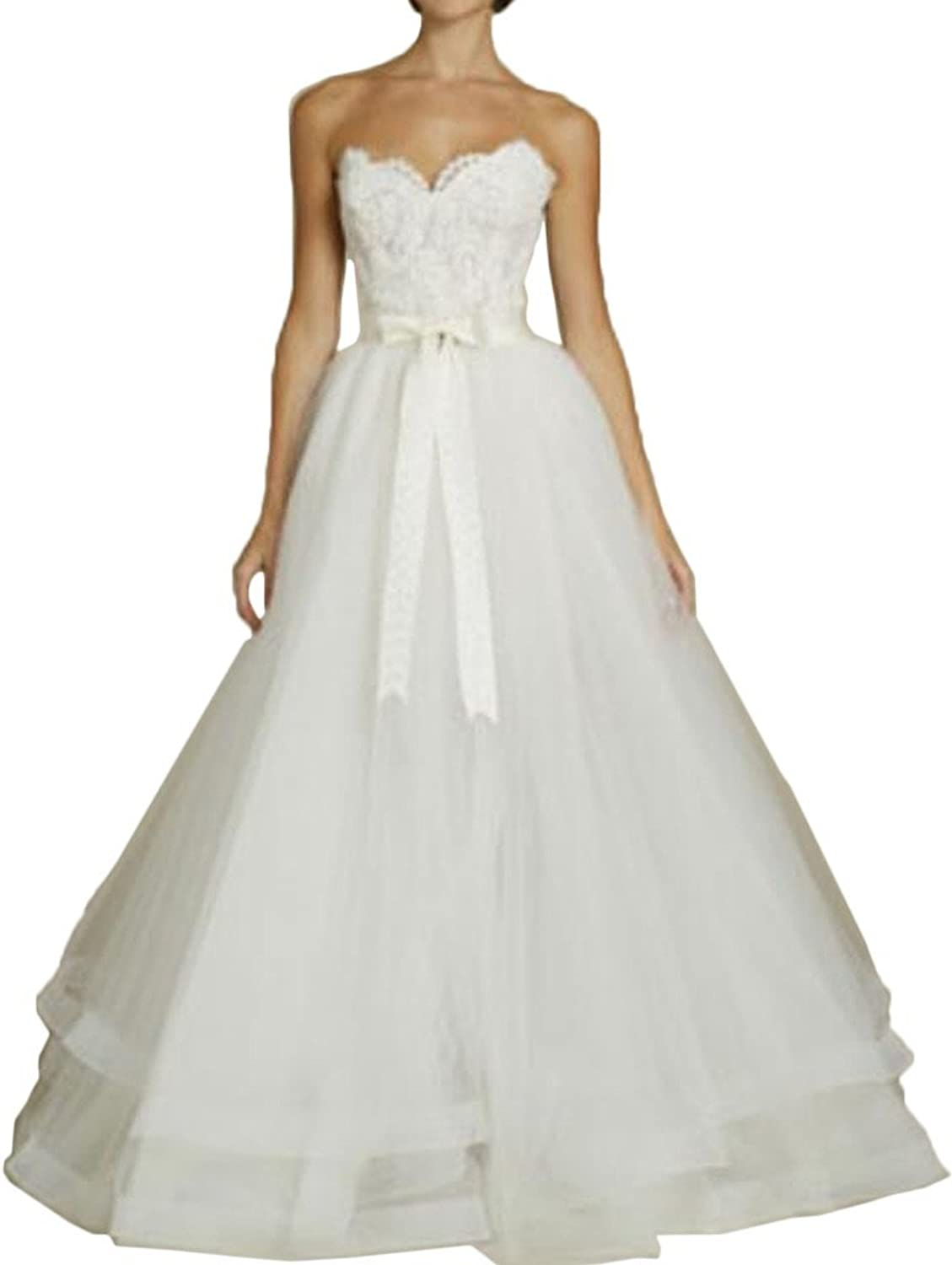 MILANO BRIDE Unique Wedding Dress For Bride Strapless Detachable Train Sash