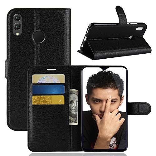 betterfon | Buch Tasche Hülle Etui Book Hülle Cover Schutz Hülle Handy Tasche für Huawei Honor 8X Schwarz