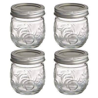 Smiths Mason Jars Lot de 6 tasses bocal Mason avec couvercles 473 ml