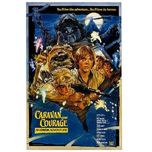 QQWER Caravan of Courage Film Ewok Abenteuer Tierhelden Poster Leinwandbilder Wandkunst Bilder Wohnkultur -50X70Cmx1Pcs -Kein Rahmen