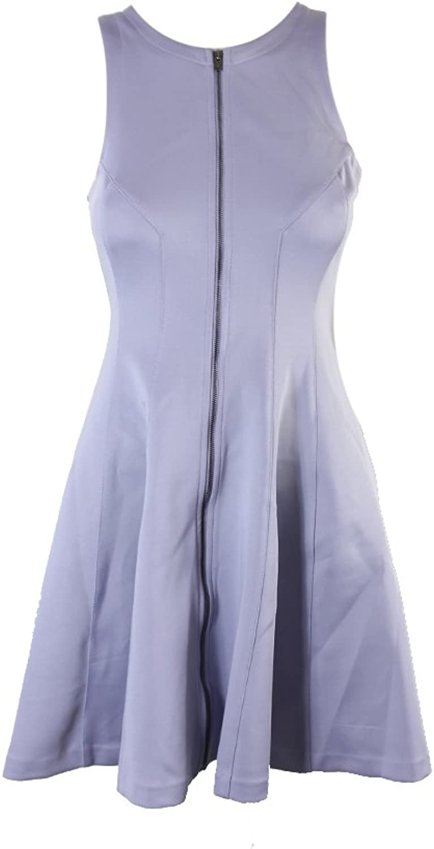 Bar Iii Womens Zip Front Fit & Flare Scuba Dress