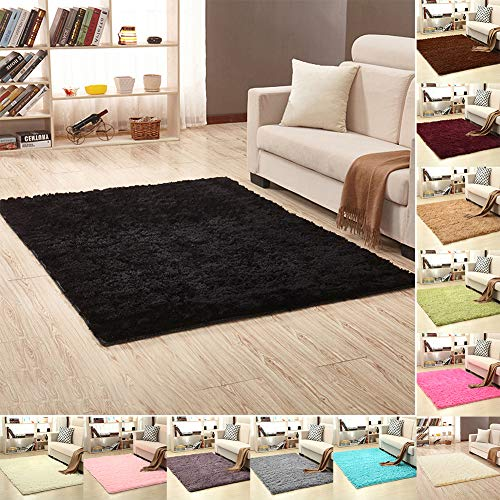 Dyllutrwhe Floor Bath Mat Solid Color Rectangle Thicken Carpet for Living Room Bedroom Bed Sofa Outdoor Rug Decor Creamy White 40cm x 60cm