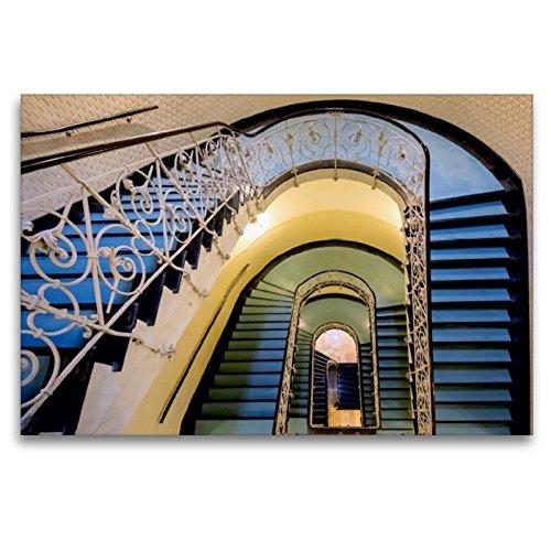 Premium Textil-Leinwand 120 x 80 cm Quer-Format Faszination Treppen   Wandbild, HD-Bild auf Keilrahmen, Fertigbild auf hochwertigem Vlies, Leinwanddruck von Carina Buchspies