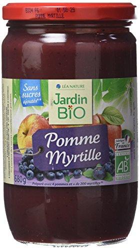 Jardin Bio Dessert Biofruits Pomme Myrtille 680 g