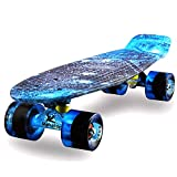 MEKETEC Skateboard 22' inch Kinder Mini Cruiser Retro Skateboard...