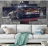 Samorou Leinwand Poster Wandkunst Porsche 911 GT Gemälde 5 Stück HD-Drucke Moderne Auto-Bilder für Wohnzimmer Dekor - Rahmenlos