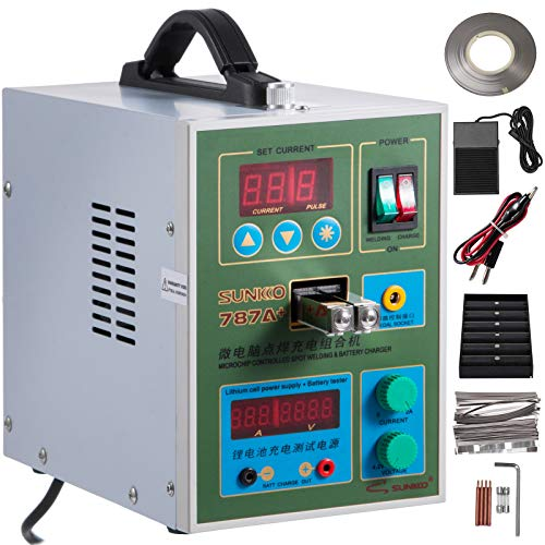 Mophorn 787A+ Pulse Spot Welder 0.15mm Battery Welding Machine 220V Battery Spot Welder & Soldering Station Portable Pulse Welding Machine For Battery Pack 18650 14500 Lithium Batteries