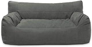 Sillón Puff Balam (Carbón, Gamuza) sofá puff, tamaño adu