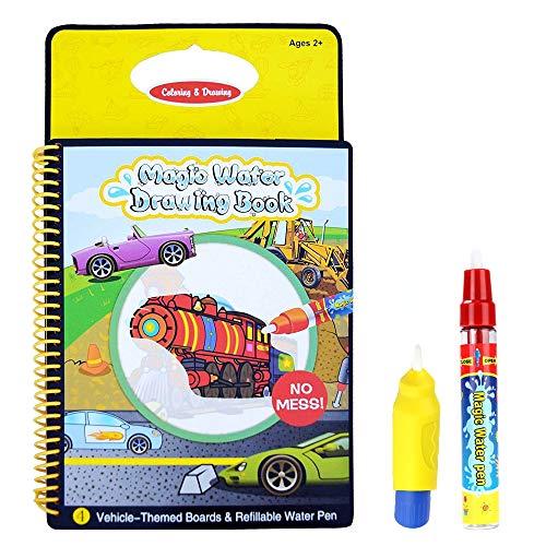 Rangebow Magic Aqua Wasser wiederverwendbare Zeichnung Buch und Doodle magische Stift für 3 Jahre plus -Fahrzeuge (GC00602)
