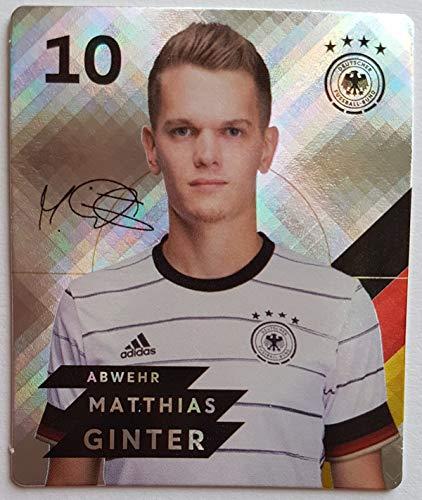 Rewe EM 2020 DFB - Sammelkarten - Glitzer - Matthias Ginter - Nr. 10 - Zusatzbonus 1 toysagent Sonderkarte