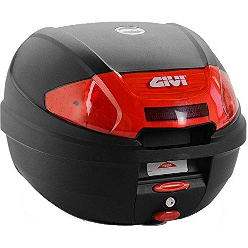Givi E300N2 Monolock Topcase mit Neuen Verschluss und Platte, Schwarz