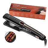 Piastra per capelli vapore, Professional Salon Vapor Ionic con infrarossi, pettine per riscaldamento in ceramica e capelli naturali per la cura dei capelli, temperatura da 250 ° F a 430 ° F