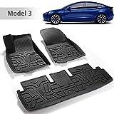 BASENOR Tesla Model 3 Floor Mat 3D All-Weather Front & Rear Floor Liners Set