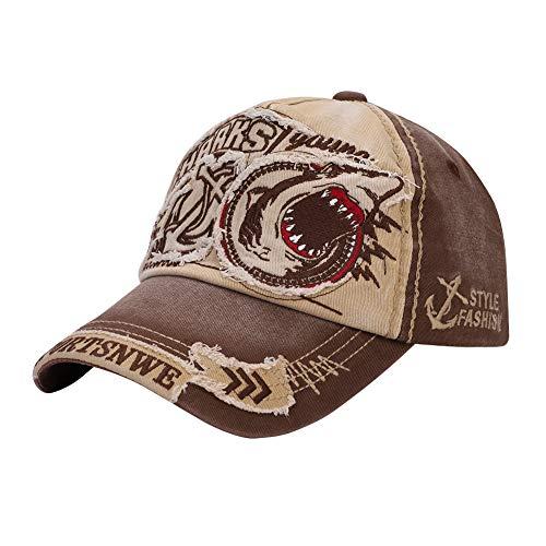 Gorra de béisbol para Hombre y Mujer, Transpirable, diseño de tiburón, Sombrero...
