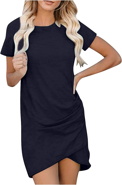 Goonidy Sexy Dresses Women Summer Mini Dress Short Sleeve Solid Slim Party Dress Casual Bodycon Beach Dress Vestido Plus Size