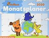 Die Maus Monatsplaner. Wandkalender 2020. Monatskalendarium. Spiralbindung. Format 44 x 34 cm - Heye