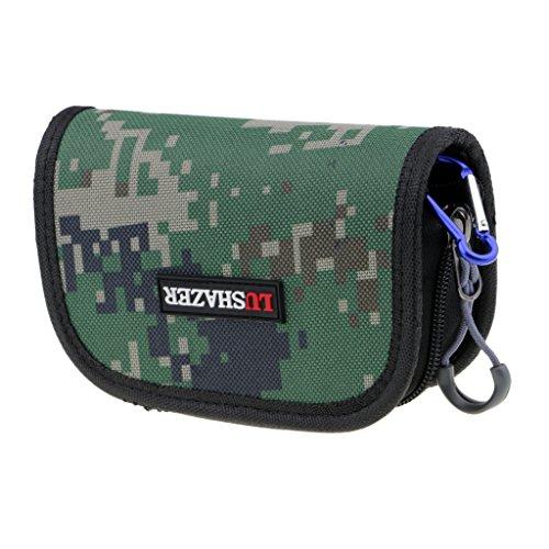 Baoblaze Angeln Löffel Tasche Haken Locken Köder Lagerung Hüfttasche Wasserabweisend - Farbe A