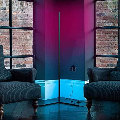 RGB & 300+ Iluminación regulable que cambia de color, luz de esquina LED regulable, con control remoto para sala de estar, dormitorio, mesita de noche, iluminación de la habitación de los niños 55.11
