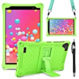 KATUMO Funda Universal Tablet 8 Pulgadas Carcasa Compatible con Samsung Galaxy Tab A 8.0 2019 (SM-T290 / T295 / T297), Teclast P80X/P80H, Funda Silicona Tablet Protectora,Verde