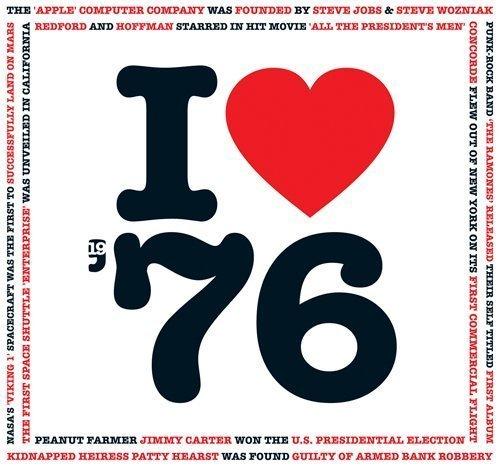 1976 Geburtstag oder Jahrestag Geschenke - 1976 CD und 1976 I Heart Grußkarten