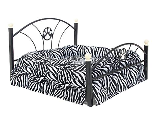 Luxury Pet Dogs Beds House Zebra Leopard Warm Sofa for Pet Cat Puppy Cushions Mats Furniture Fast Domestic Delivery,Zebra,M,C