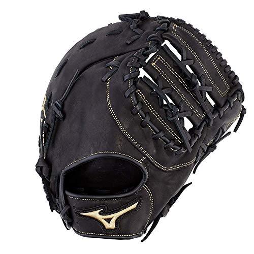 "Mizuno GXF50PB3 MVP Prime Baseball First Base Mitts, 12.5"", Left Hand, Right Hand: Black (Rg90)"