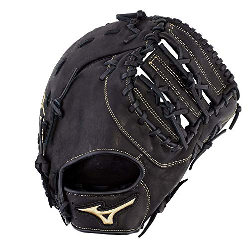 "Mizuno GXF50PB3 MVP Prime Baseball First Base Mitts, 12.5"", Left Hand, Right Hand: Black (Rg90)"