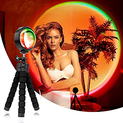 Sunset Lamp Projector LED Night Light, 16 Color...