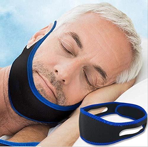 Dispositivos Anti Ronquidos Soluciones, Dejar De Roncar, Solución Para Roncar, Ajustable & Transpirable Suave Para La Piel, Haz dormir mejor (blue)