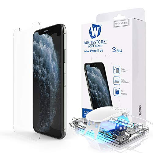 Dome Glass Screen Protector for iPhone 11 Pro, Full Tempered Glass Shield with Liquid Dispersion Tech [Easy to Install Kit] Smart Phone Screen Guard - One Pack
