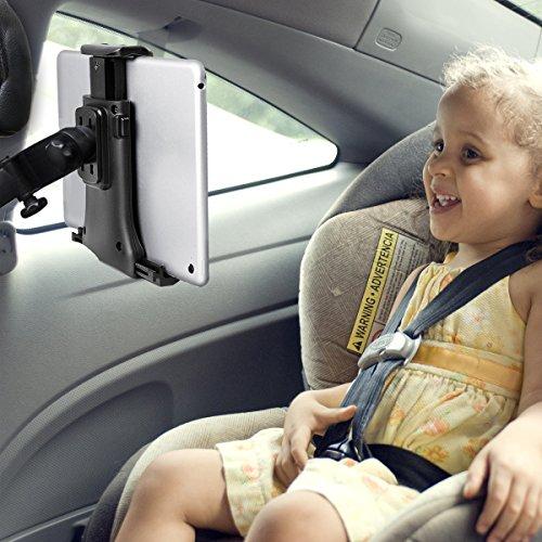 Tablet Halterung Auto, KFZ Kopfstützen iPad Kopfstützen halterung einstellbare rotierende Autositz-Kopfstützenhalterung für 7