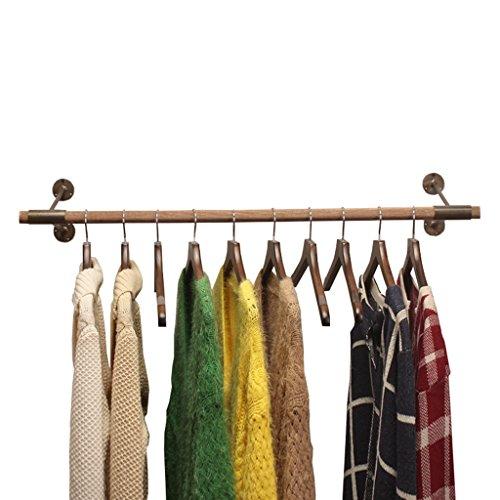 DIKE UK Appendiabiti A Parete Espositore Per Abbigliamento Appendiabiti Per Appendiabiti Da Parete In Ferro Di Legno Per Guardaroba Guardaroba Bianco Facile Da Installare (Dimensioni : 60Cm)