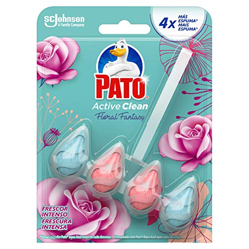 PATOActive Clean - Colgador WC, Frescor Intenso, Perfuma, Limpia y Desinfecta, Aroma Floral Fantasy