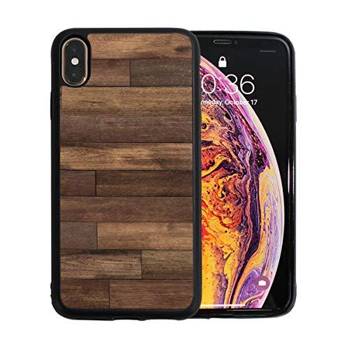 WYYWCY Old Grunge Dark Textured Hölzernes Apple-Telefon Xs Max Case Screen Protector TPU Hard Cover mit dünnem stoßfestem Stoßfänger-Schutzetui für das Apfeltelefon Xs Max. 6,5 Zoll