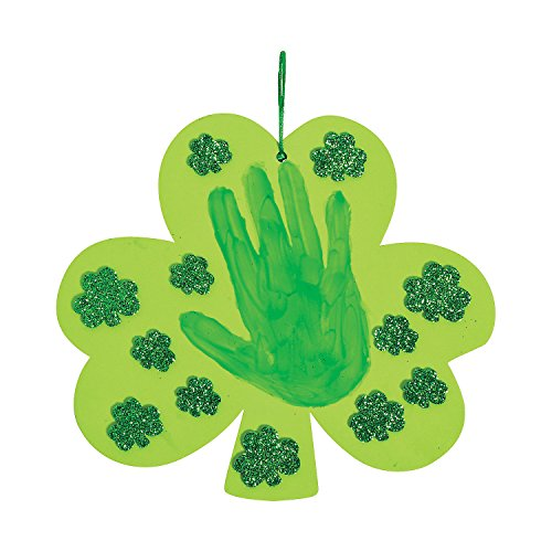Shamrock Handprint Sign Ck-12 - Crafts for Kids and Fun Home Activities