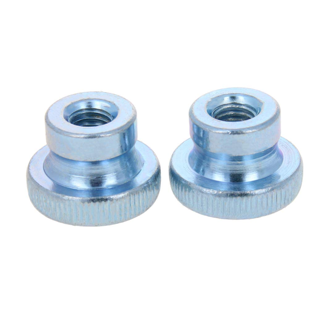 MroMax 30PCS Thumb Nut M4 Thread Round Knobs Zinc Plating Commonly Use for 3D Printers Parts