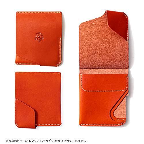 【HUKURO】JITAN財布二つ折り薄いコンパクト右利き用本革栃木レザー(オレンジ)