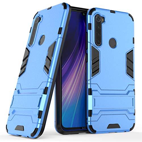MaiJin Coque pour Xiaomi Redmi Note 8 (6,3 Pouces) 2 en 1 Double Couches Étui Antichocs Protection Rigide Anti Choc avec Fonction Support (Bleu)
