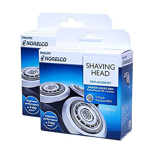 Philips Norelco RQ12/62 Replacement Head for Series 8000 and Arcitec (2 Pack)