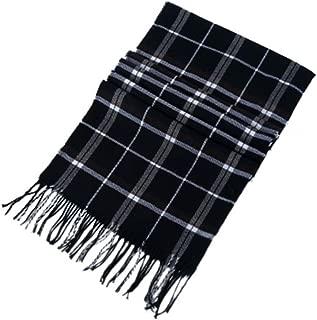 Fashion Simple Style Unisex Comfortable Warm Plaid Tassels Cotton Cashmere Scarves