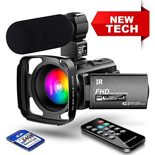 【New Upgrade】 Ultra HD Video Camera Camcorder 1080P 42M Vlogging Camera YouTube Digital Recorder...