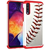 Samsung Galaxy A50 Case,Galaxy A50 Cover - Baseball Sports Pattern Shock-Absorption Hard PC and Inner Silicone Hybrid Dual Layer Armor Defender Protective Case Cover for Samsung Galaxy A50