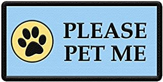 WORKINGSERVICEDOG.COM Please Pet Me - Patch for Service Dog Vest or Harness