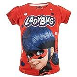 Miraculous LadyBug Cat Noir - T-Shirts - Fille - 57IMFT [Rouge Coeurs - 4 âge - 104 cm]