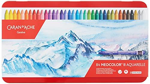 Caran d'Ache Classic Neocolor II Pastels solubles à l'eau, 84 couleurs