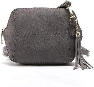 Damen Crossbody Tasche Damen Schultertaschen Klein Wildleder Leder Handtasche Frauen Messenger Bags Quaste Clutch Geldbörs...
