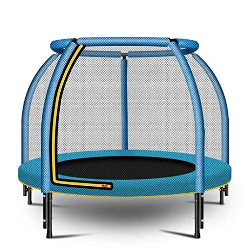 JKLL 4ft Kids Trampoline and Safety Enclosure Net & Spring Pad, Outdoor Round Bounce Jumper 48' Indoor/Outdoor, Heavy Duty Frame | Great Birthday Gift